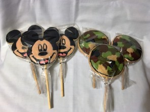 Mickey Mouse & Camouflauge Cookie Pops