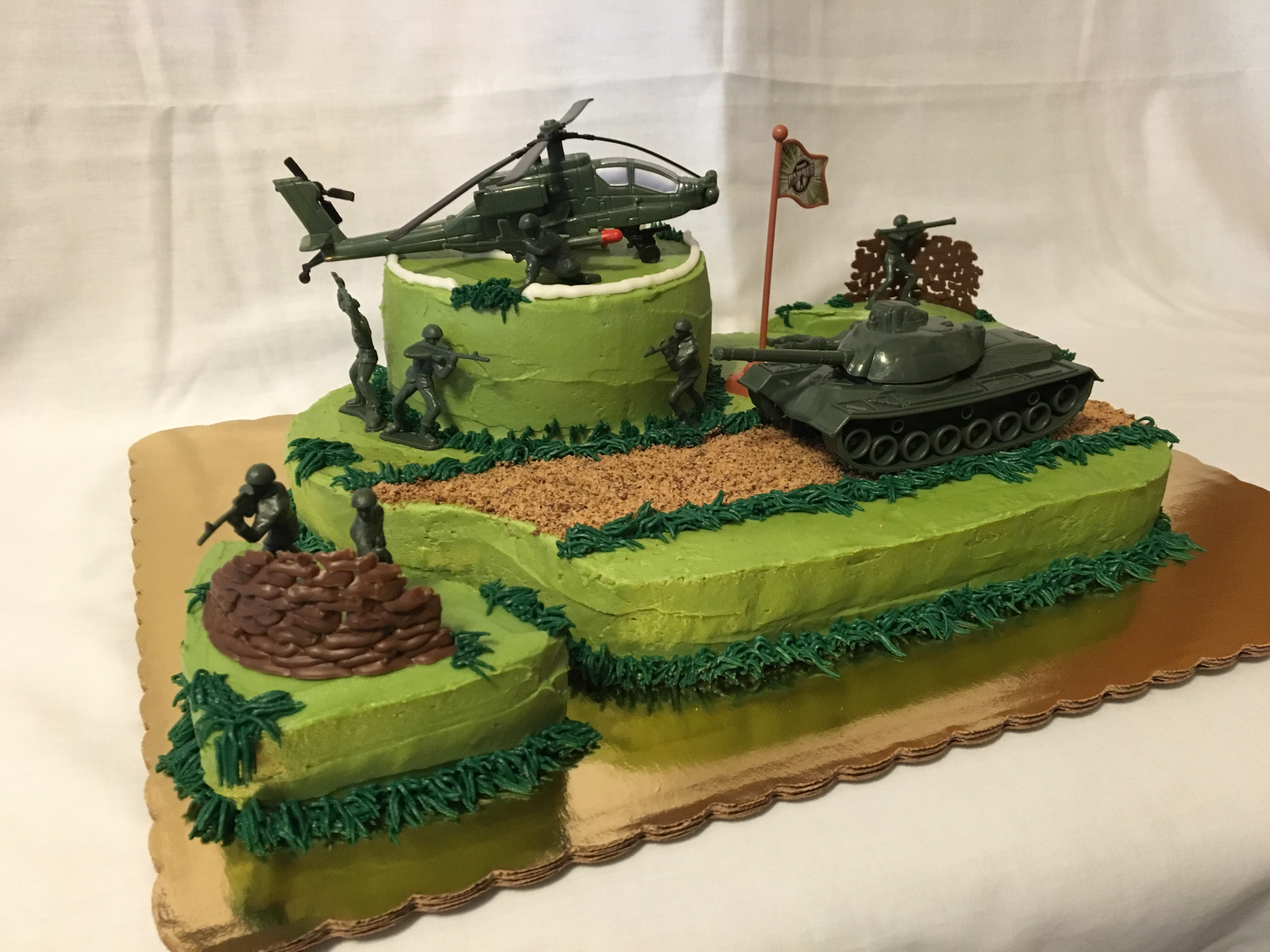 Birthday cakes army image inspiration of cake and for Army cake decoration